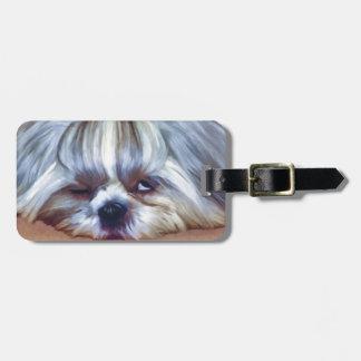 Cão sonolento de Shih Tzu Etiqueta Para Bagagem