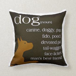 cão (substantivo) travesseiros de decoração