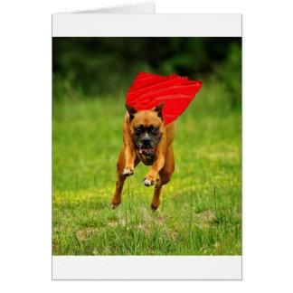 Cão super! cartão comemorativo