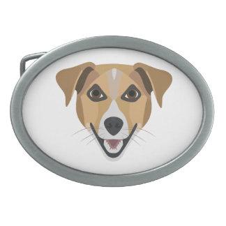 Cão Terrier de sorriso da ilustração