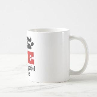 Cão tibetano Designes do Spaniel do amor Caneca De Café