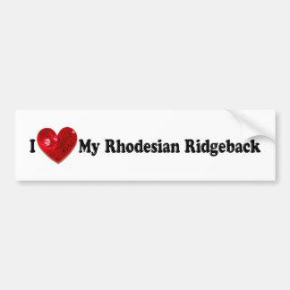 Cão vermelho de Rhodesian Ridgeback da imagem do S Adesivo