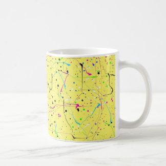 Caos amarelo caneca de café