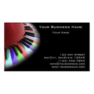 Caos do teclado brilhante no preto cartao de visita
