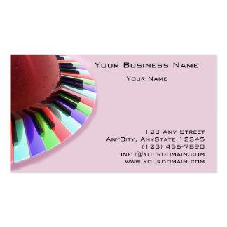 Caos do teclado brilhante no rosa cartão de visita