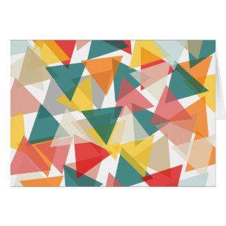 Caos geométrico do estilo escandinavo cartão