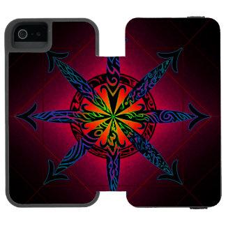 Caos psicadélico - escolha sua cor! capa carteira incipio watson™ para iPhone 5
