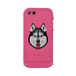 Capa À Prova D'água Para iPhone SE/5/5s A ilustração persegue o rouco Siberian da cara