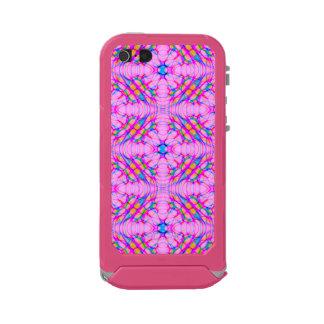 Capa À Prova D'água Para iPhone SE/5/5s Abstrato do teste padrão do caleidoscópio do rosa