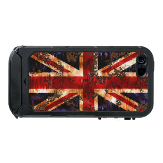 Capa À Prova D'água Para iPhone SE/5/5s Bandeira patriótica oxidada de Reino Unido