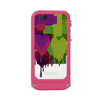 Capa À Prova D'água Para iPhone SE/5/5s Blocos da cor que derretem corações