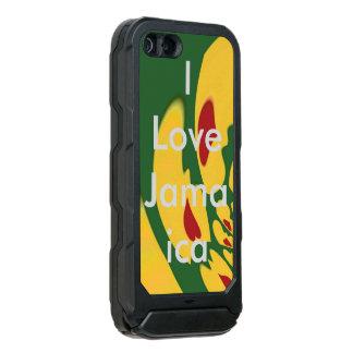Capa À Prova D'água Para iPhone SE/5/5s Corações bonitos de Jamaica de cores de Rasta do