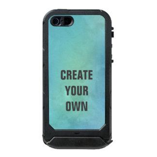 Capa À Prova D'água Para iPhone SE/5/5s Criar sua própria pintura da aguarela de turquesa