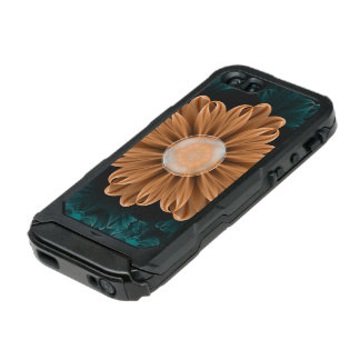 Capa À Prova D'água Para iPhone SE/5/5s Crisântemo bonito do paraíso da laranja & do Aqua