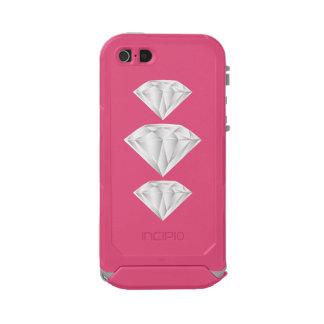 Capa À Prova D'água Para iPhone SE/5/5s Diamante branco para meu querido