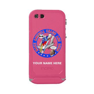 Capa À Prova D'água Para iPhone SE/5/5s Faça América deixar de funcionar & queimar-se