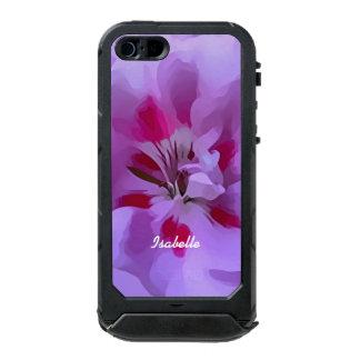 Capa À Prova D'água Para iPhone SE/5/5s Flor violeta do hibiscus do abstrato do rosa