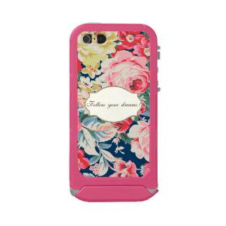 Capa À Prova D'água Para iPhone SE/5/5s Flores românticas adoráveis - mensagem inspirador