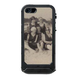 Capa À Prova D'água Para iPhone SE/5/5s Fotografia 1920 do vintage do grupo de praia