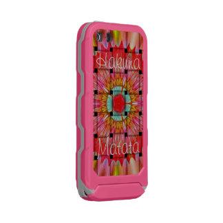 Capa À Prova D'água Para iPhone SE/5/5s Hakuna cinzento cor-de-rosa bonito Matata
