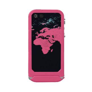 Capa À Prova D'água Para iPhone SE/5/5s impressão do mapa do mundo no caso móvel,