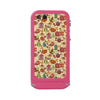 Capa À Prova D'água Para iPhone SE/5/5s Mão colorida abstrata design floral tirado do