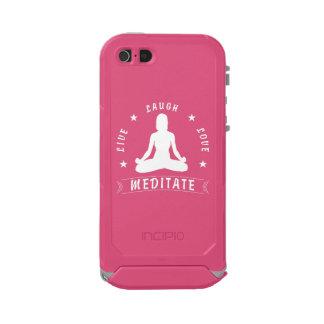 Capa À Prova D'água Para iPhone SE/5/5s O amor vivo do riso Meditate o texto fêmea