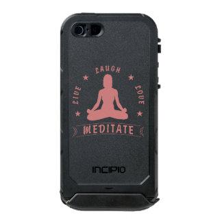 Capa À Prova D'água Para iPhone SE/5/5s O amor vivo do riso Meditate o texto fêmea (o