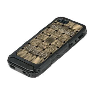 Capa À Prova D'água Para iPhone SE/5/5s O Hakuna cinzento tecido bonito africano o mais