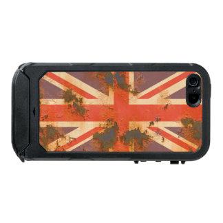 Capa À Prova D'água Para iPhone SE/5/5s O vintage oxidou bandeira de Reino Unido