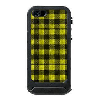 Capa À Prova D'água Para iPhone SE/5/5s Olhar Checkered de serapilheira do teste padrão do