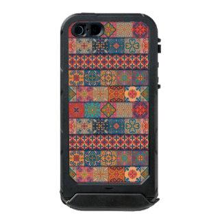 Capa À Prova D'água Para iPhone SE/5/5s Ornamento de talavera do mosaico do vintage