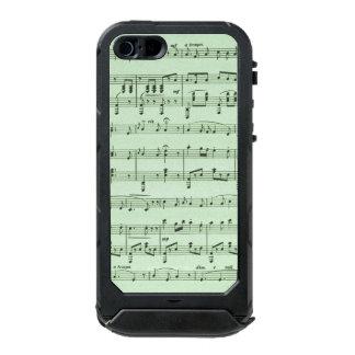 Capa À Prova D'água Para iPhone SE/5/5s Partitura verde