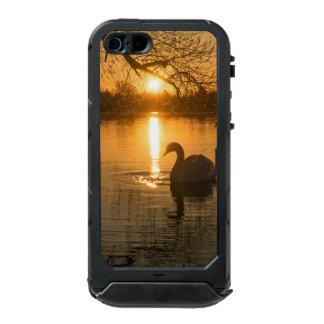 Capa À Prova D'água Para iPhone SE/5/5s Por do sol com cisne