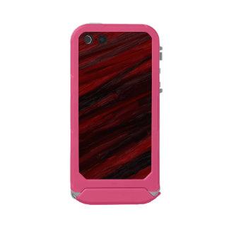 Capa À Prova D'água Para iPhone SE/5/5s Raias diagonais vermelhas e pretas