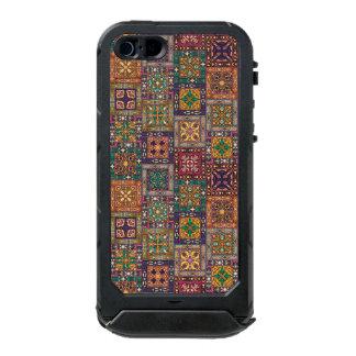 Capa À Prova D'água Para iPhone SE/5/5s Retalhos do vintage com elementos florais da