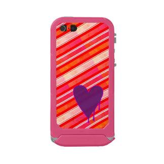 Capa À Prova D'água Para iPhone SE/5/5s Roxo de derretimento do coração