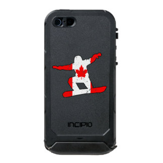 Capa À Prova D'água Para iPhone SE/5/5s SNOWBOARDER da folha de bordo (preto)