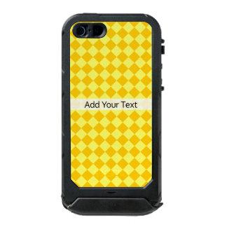Capa À Prova D'água Para iPhone SE/5/5s Teste padrão amarelo do diamante da combinação por