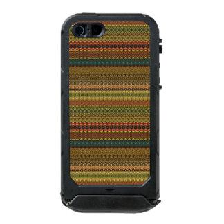 Capa À Prova D'água Para iPhone SE/5/5s Teste padrão asteca tribal do vintage
