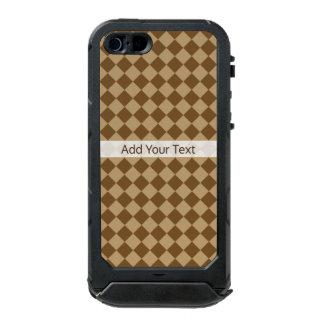Capa À Prova D'água Para iPhone SE/5/5s Teste padrão do diamante da combinação de Brown