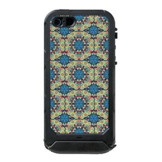 Capa À Prova D'água Para iPhone SE/5/5s Teste padrão floral étnico abstrato colorido de da