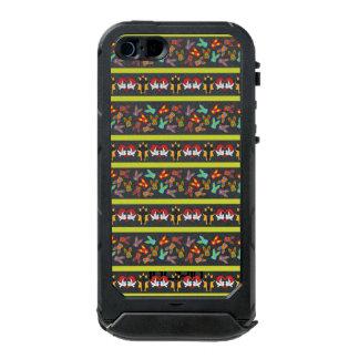 Capa À Prova D'água Para iPhone SE/5/5s Teste padrão psicótico da páscoa colorido