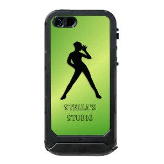 Capa À Prova D'água Para iPhone SE/5/5s Texto do costume do verde da dança moderna