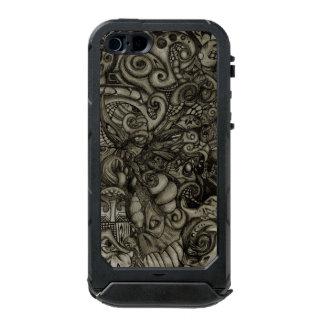 Capa À Prova D'água Para iPhone SE/5/5s Trabalhos de arte tribais do abstrato do demónio