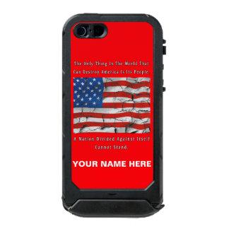 Capa À Prova D'água Para iPhone SE/5/5s Uma nação dividida