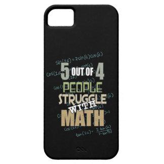 Capa Barely There Para iPhone 5 5 de 4 pessoas do esforço com matemática -