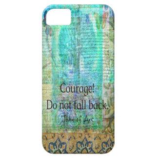 Capa Barely There Para iPhone 5 A coragem não cai para trás JOANA de citações do