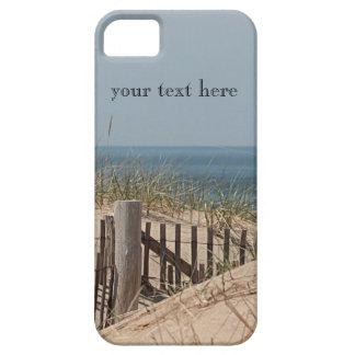 Capa Barely There Para iPhone 5 A duna de areia e a cerca da praia na raça
