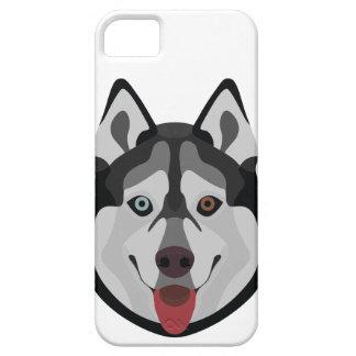 Capa Barely There Para iPhone 5 A ilustração persegue o rouco Siberian da cara